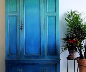blue, plants, and decor image