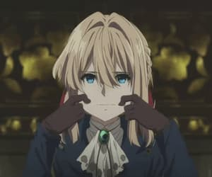 violet evergarden, gif, and anime image