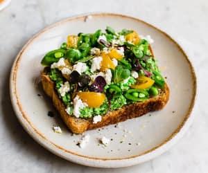 breakfast, lemon, and peas image