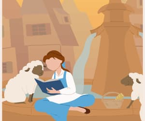 belle, disney, and gif image