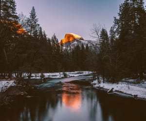 forest, mountain, and river image