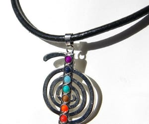 etsy, vortex, and leather necklace image