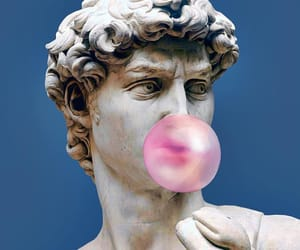 art, pink, and statue image