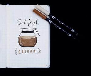 coffee and bullet journal image
