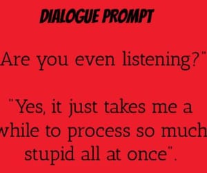 dialogue, writing, and prompt image