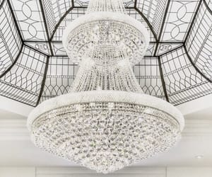 white and chandelier image