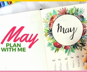 flowers, bullet journal, and bullet journal may image