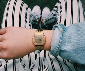 casio, fashion, and gold image