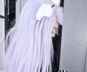 aesthetic, cat ears, and cat girl image