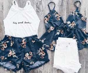 aesthetic, blue, and floral image