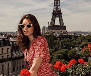girl, paris, and vintage image