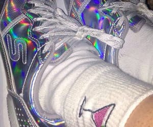 shoes, aesthetic, and holographic image