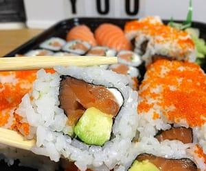 avocado, rice, and snacks image