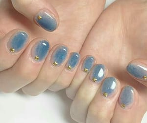 nails, blue, and aesthetic image