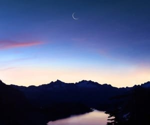 blue, mountains, and night image