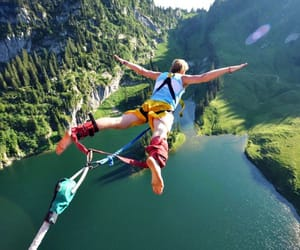 nature, adventure, and jump image