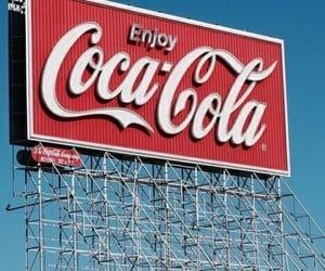 red, retro, and coca cola image