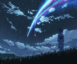 anime, your name, and kimi no nawa image