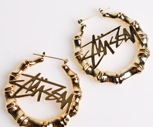 earrings, dope, and gold image