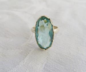 etsy, aquamarine stone, and gemstone ring image