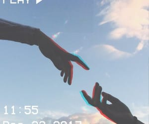 aesthetic, blue, and hands image