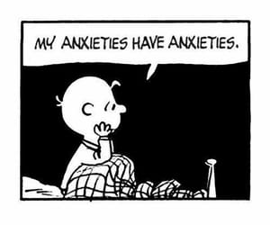 anxiety, charlie brown, and funny image