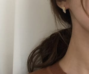 brown, earring, and girl image