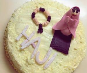 birthday, cake, and hijab image