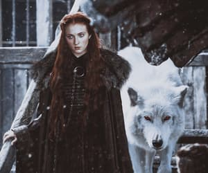 game of thrones, jon snow, and sophie turner image