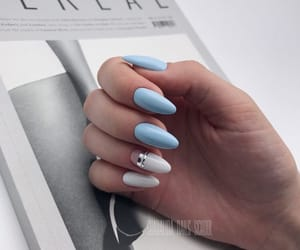 beauty, spring, and baby blue nails image