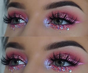 glitter, eyes, and pink image