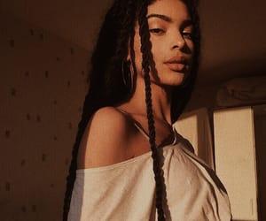 girl, melanin, and beauty image