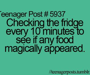 food and teenager post image