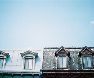 house, sky, and blue image