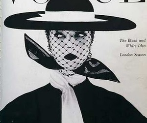 vogue, vintage, and black and white image