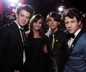 demi lovato, nick jonas, and Joe Jonas image