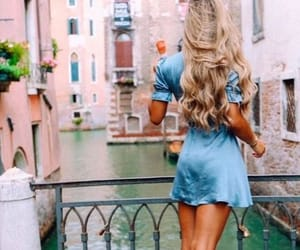 beautiful, blonde, and travel image