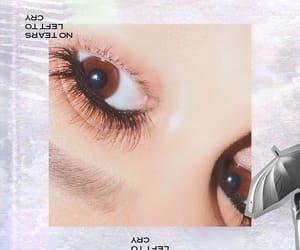 ariana grande, no tears left to cry, and eyes image