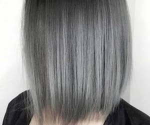 grey, short hair, and ombre image