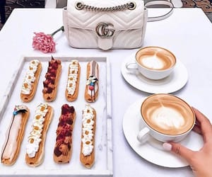 gucci, coffee, and food image