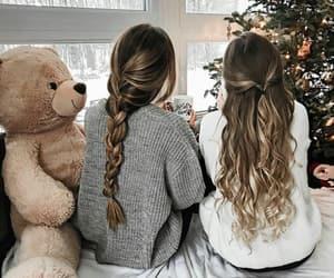 girl, christmas, and style image