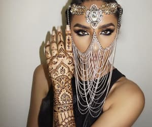 henna, makeup, and beauty image
