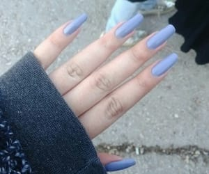 amazing, baby blue, and hand image