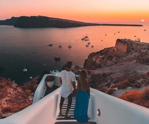 couple, sunset, and goals image