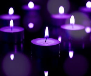 purple, candle, and fire image