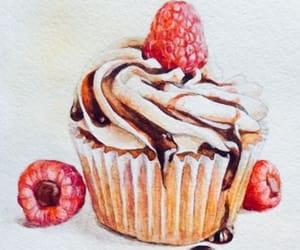 art, drawing, and cupcake image