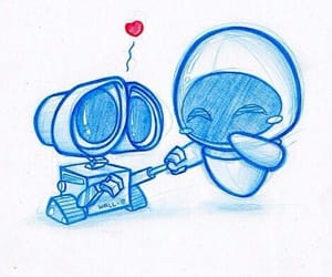 love, wall-e, and disney image