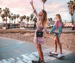 girl, friends, and california image