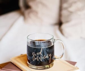 coffee, book, and morning image