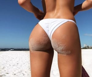 ass, beach, and sea image